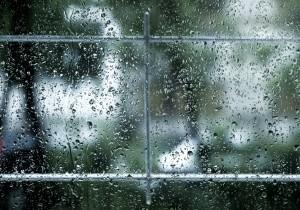 Windown with rain on it. Half term: heaven or hell?