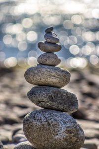 Pebbles balanced in a pile. Keeping everybody happy (excepty me).