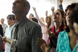 Singing in church.  Sing when you're winning
