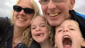 What will you be remembered for? Selfie of the Jarratt family smiling away