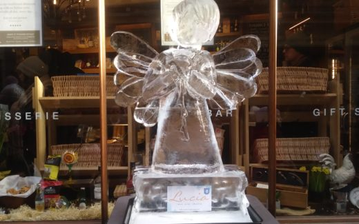 Ice sculpture of an angel. What are you grateful for?