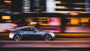 Grey car driving at speed. What haven't you seen?