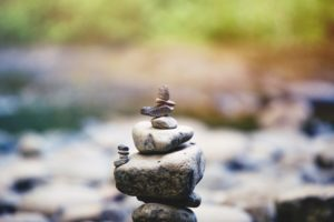 Rocks balanced in a pile. Is attitude a self-fulfilling prophecy?