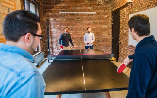 Doubles match of table tennis. Table tennis: good for your health?